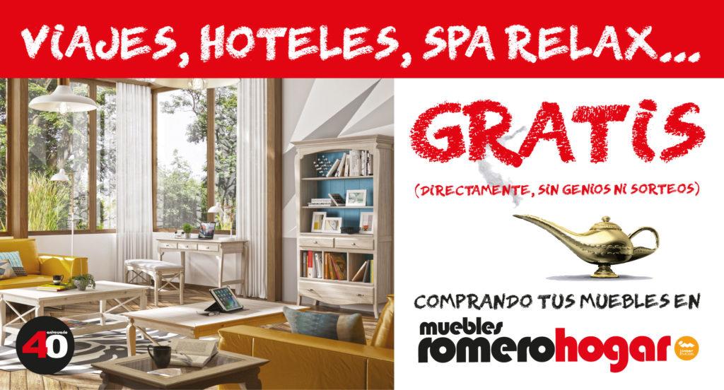 Viaja gratis con los sofás 40 aniversario de muebles Romerohogar