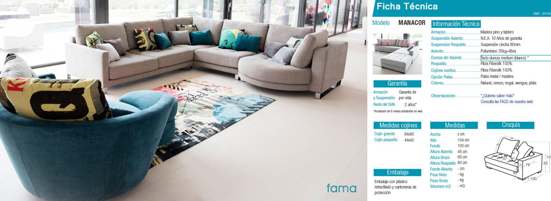 Sofá FAMA modelo Pacific