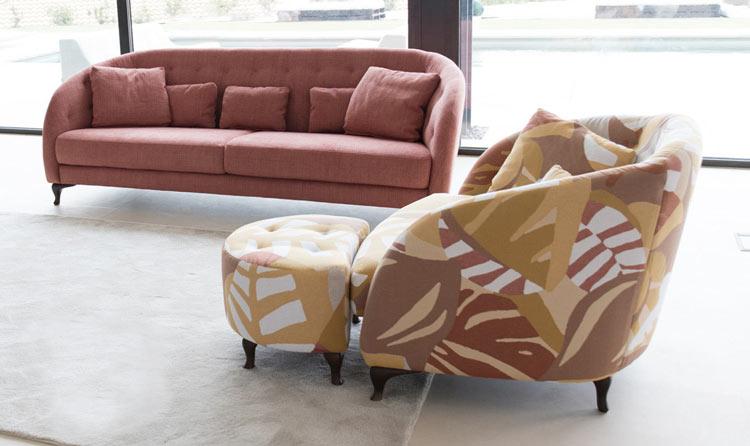 ¿Cómo elegir el sofá perfecto? Sofá Fama modelo Maui con tapicería exclusiva.