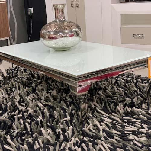 Mesa de centro cristal pintado