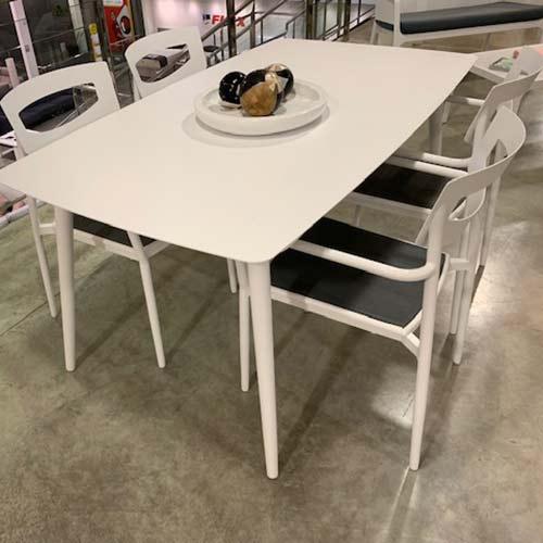 Conjunto de terraza aluminio blanco