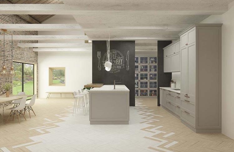 Aprovechamiento de espacio en una cocina que mantiene el orden