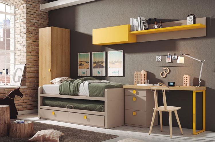Ambiente acogedor en habitación juvenil.