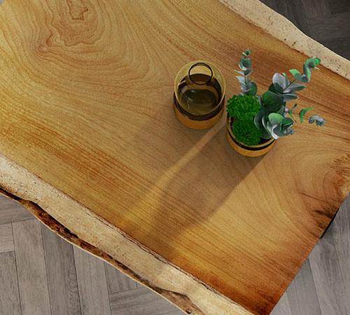 Muebles de salón en maderas exclusivas
