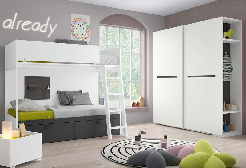 Habitación juvenil con muebles modernos