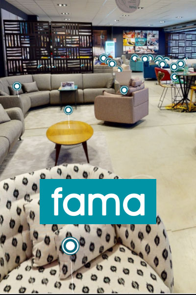 Showroom virtual muebles Fama