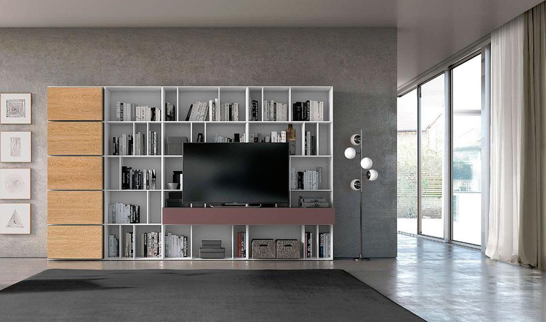 Librería con espacio adaptado para TV